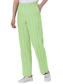 Seersucker Stripe Cotton Pants