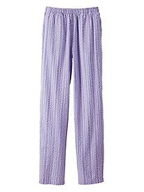 Seersucker Stripe Cotton Pants
