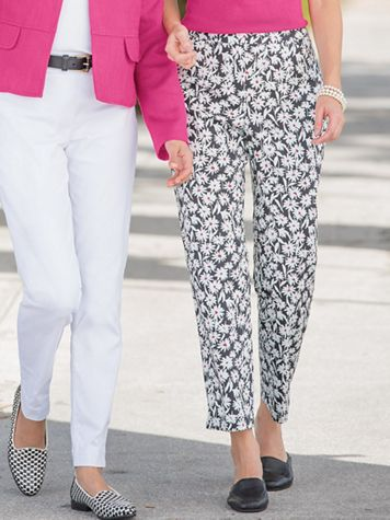 Daisy Print Ankle Pants - Image 1 of 1