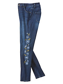 JAG Sheridan Embroidered Skinny Jeans