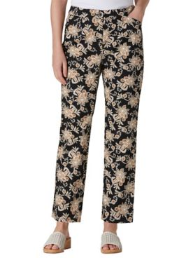 Watercolor Paisley Ankle Pants