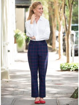 Windowpane Ankle Pants
