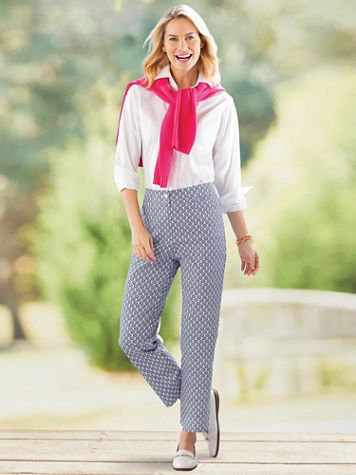 Scallop Print Ankle Pants - Image 4 of 4