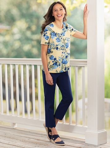 Rafaella® Scallop-Hem Ankle Pants - Image 1 of 4