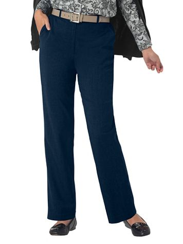 Stretch Wool Gabardine Fly-Front Pants - Image 5 of 6