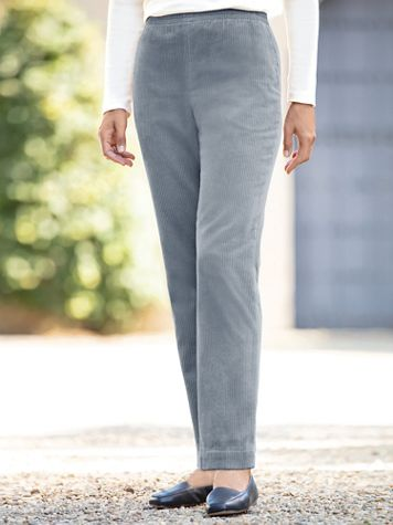 Wide-Wale Cotton Corduroy Pull-On Pants - Image 1 of 7