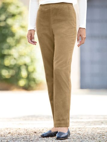 Wide-Wale Cotton Corduroy Pull-On Pants - Image 1 of 3