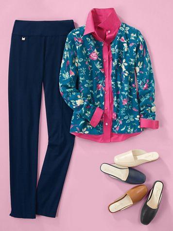 SlimSation® Ease-Y-Fit Tapered Knit Pants