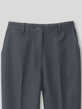 Washable Wool-Blend Fly-Front Pants
