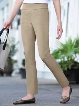 SlimSation Zip-Pocket Ankle Pants