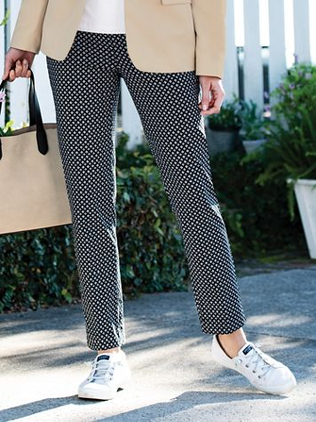 SlimSation Foulard-Print Ankle Pants