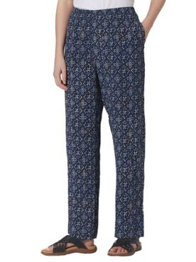 Batik-Print Crinkle Pants