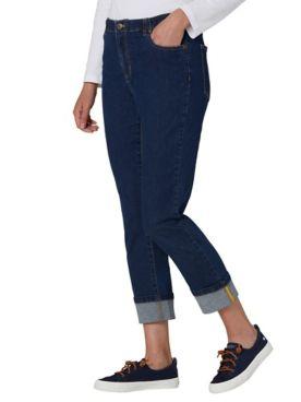 DreamFlex Denim Comfort-Waist Cuffed Jeans