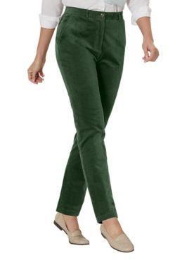 Stretch Wide-Wale Corduroy Fly-Front Pants