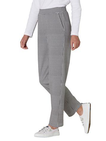 Check-Print Everyday Knit Straight Leg Pants - Image 6 of 6