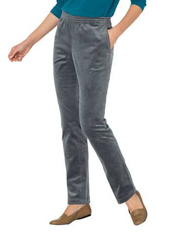 Stretch Wide-Wale Corduroy Pull-On Pants - Image 1 of 7