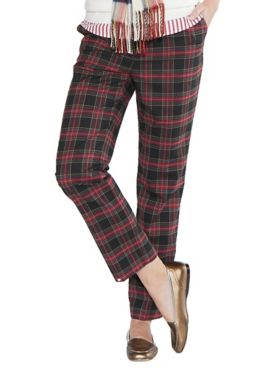 Tartan Plaid Comfort-Waist Pants