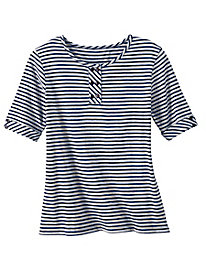 Mini Statement-Stripe Henley by Appleseed's