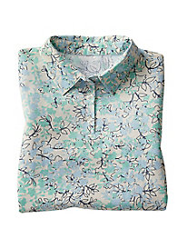 Printed Elbow-Sleeve Polo by Haymaker