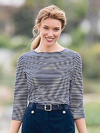 Mini Statement-Stripe Bateau Tee
