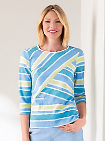 Spliced Stripes Tee by Koret®