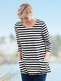 Statement-Stripe Swing Tunic