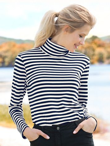 Essential Cotton Yard Dye Turtleneck - Image 1 of 10