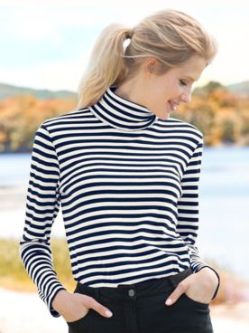 Essential Cotton Yard Dye Turtleneck