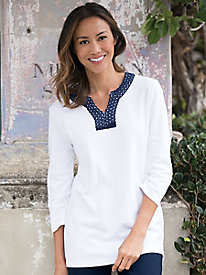 Crochet-Trimmed Tunic