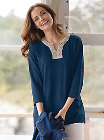 Crochet-Trimmed Tunic