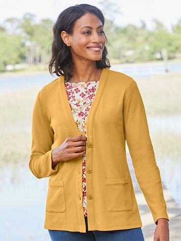 Cotton Everyday Knit Cardigan - Image 1 of 22