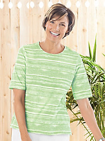 Brushstroke Striped Short Sleeve Tee
