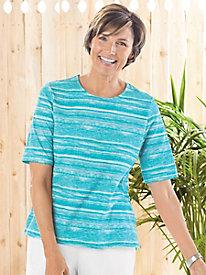 Brushstroke Striped Short Sleeve Tee