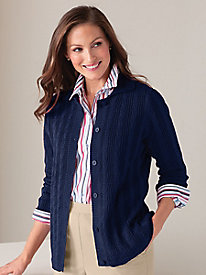 Cable Cardigan Sweater