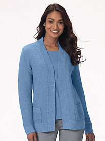 Seedstitch Open-Front Cardigan
