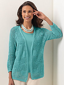 Koret Crochet Cardigan Sweater