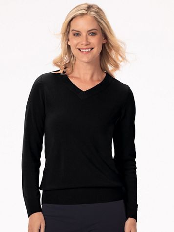 Appleseed's Spindrift V-Neck Pullover - Image 1 of 19