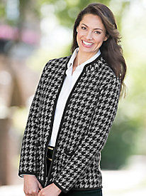 Houndstooth Boiled Wool Jacket