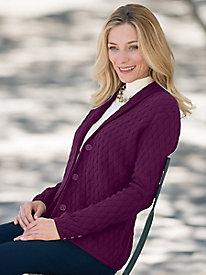 Basketweave Sweater Jacket