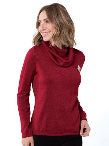 Sparkle Cowlneck Sweater - Image 1 of 1