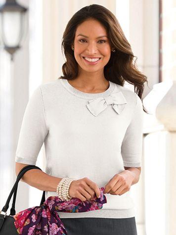 Fine-Gauge Bow Sweater - Image 1 of 1
