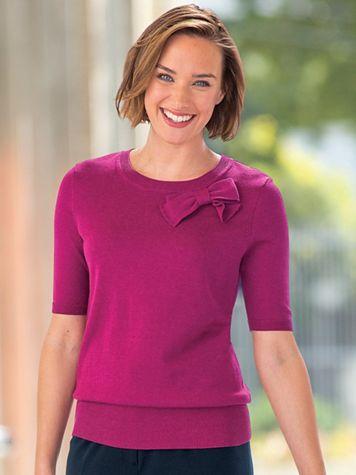 Fine-Gauge Bow Sweater - Image 5 of 8