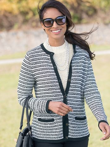 Tweedy Stripe Cardigan