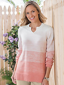 Notch Collar Colorblock Tunic by Koret
