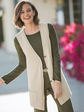 Tunic Sweater Vest - Image 1 of 2