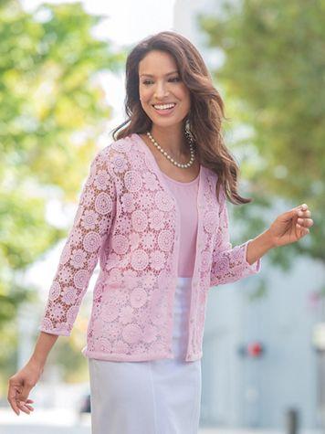 Crochet Lace Cardigan - Image 1 of 9