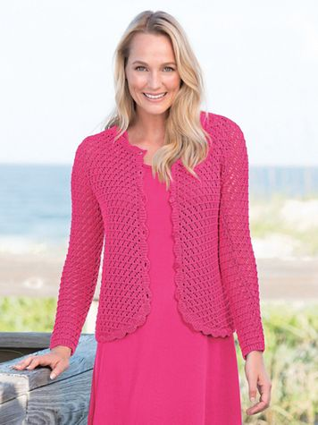 Crochet Cardigan Sweater - Image 1 of 3