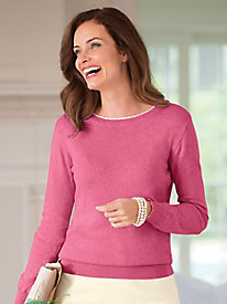 Picot-Edged Pullover Sweater