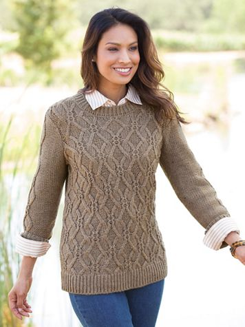 Chunky Cable Pullover Sweater - Image 1 of 1