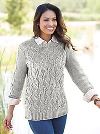 Chunky Cable Pullover Sweater